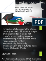 Education for Sustainable Development report