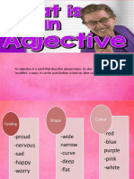 AdjectiveS & Conjuntion