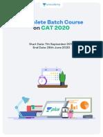 Batch Course on CAT 2020
