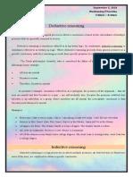 Deductive reasoning and Inductive Reasoning