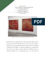 Robert C Morgan 2002 art review of Joseph Nechvatal exhibition vOluptuary