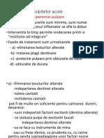 Tratamentul pulpitelor (forme clinice)