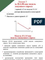Лекция 3. Модель IS-LM как модель совокупного спроса
