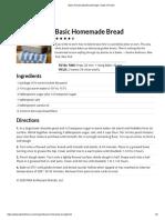 Basic Homemade Bread Recipe _ Taste of Home