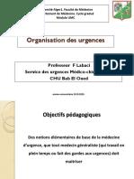 1- organisation des urgences