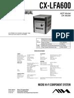 manual servicio del cx-lfa600