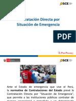 DIAPOSITIVAS DEL CURSO CONTRATACION DIRECTA POR ESTADO DE EMERGENCIA - LICITA PERU.pdf