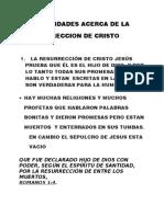TRES VERDADES ACERCA DE LA RESURRECCION DE CRISTO