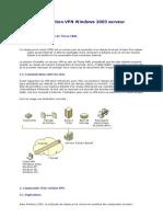 VPN Sous 2003 Server ''Procedure d'Installation''