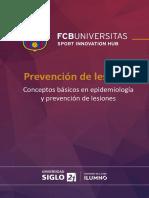 Epidemiologia y prevencion de lesiones deportivas. Barcelona.