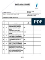 Comments  Resolutions Sheet