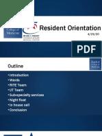 VA Resident Orientation