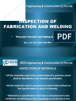 Inspection for Fabrication & Welding