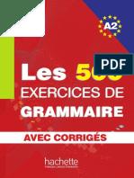 Les 500 exercices de grammaire A2.pdf