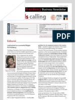 Looking back at a successful Belgian EU Presidency, Business Newsletter, 21/12/2010, Issue 9