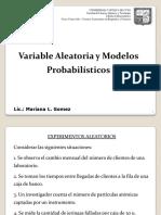 Variable aleatoria y  distribuciones