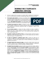 reglamento de la euskal herriko mus federazioa