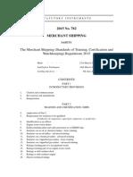 The Merchant Shipping (STCW) Regulation 2015