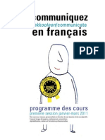 Brochure Cours Janv-mars