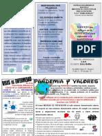 TRIPTICO VALORES Y PANDEMIA