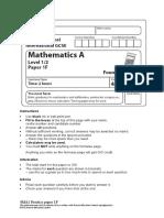 IGCSE (9-1) Maths - practice paper 1F