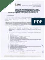 CRITERIOS APLICABLES PARA EL DESARROLLO DE INSPECCIONES