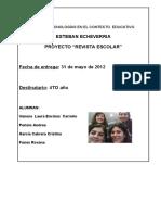 PROYECTO DESARROLLADO REVISTA ESCOLAR 2020