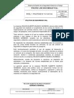 PLT-SST-004 POLITICA DE SEGURIDAD VIAL.
