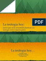 la teología HOY