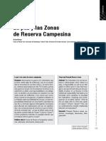 La Paz y las Zonas de Reserva Campesina asas