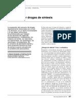 Urgencias por drogas de síntesis
