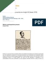 Música culta peruana escrita en el siglo XX (hasta 1970)