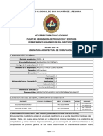 SILABO-ARQUITECTURA DE COMPUTADORAS (2020-A)