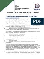 Aceptacion y Continuacion de Clientes ().