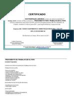 Certificado  - NR 18