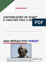 CONTRIBUICOES DE PIAGET E VYGOTSKY