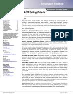 Global Credit Card ABS Rating Criteria