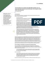 interim measures under uncitral mdl law- 2006 amendmnt