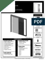 P7001 Frameless Glass Door Fitting Instructions