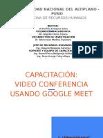 Video conferencias  en GoogleMeet