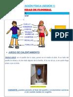 unidad floorball- SESIÓN 1 .4º - Ma So