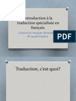 Introduction a la traduction spécialisée en français