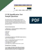 CCIE Qualification Test Sample Questions