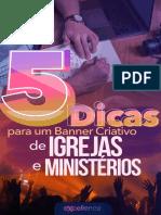 E-book 5 dicas para um banner criativo de igrejas e ministérios