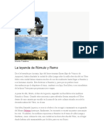 Escultura de Rómulo y Remo