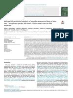 Multivariate statistical analysis of morpho-anatomical data