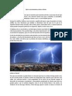 Qué es una tormenta y cómo se forma