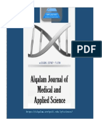 AlQalam Journal of Medical and Applied Sciences – AJMAS