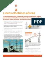 Alerta HSE Líneas eléctricas aéreas