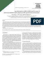 Determination of welding deformation in fillet-welded joint-Deng-2006.pdf